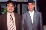 (Left) Mr. Bikash Agarwal (Executive Director - Revive Nepal Pvt. Ltd.) with Honorable Ex- Prime Minister of Nepal Sher Bahadur Deuba, 12th Aug, 2009