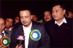 (Right) Mr. Sanjay Nirala (Managing Director - Revive Nepal Pvt. Ltd.) with His Excellency Dr. Abdullah Al Nasir Bussairy, Ambassador of Royal Kingdom of Saudi Arabia to Bangladesh and Nepal (left), 12th Aug, 2009