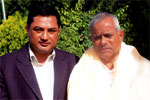 (Left) Mr. Sanjay Nirala (Managing Director - Revive Nepal Pvt. Ltd.) with First President of Nepal His Excellency Dr. Ram Baran Yadav (Right), 14th Aug, 2009